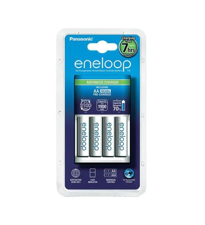Panasonic Eneloop Advanced Charger + 4x AA